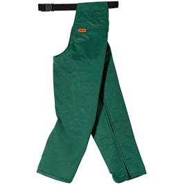 Ringsum-Beinschutz mit Schnittschutz, grün